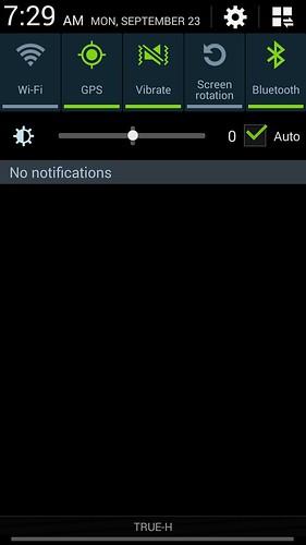 Notification bar ของ Samsung Galaxy Note 3