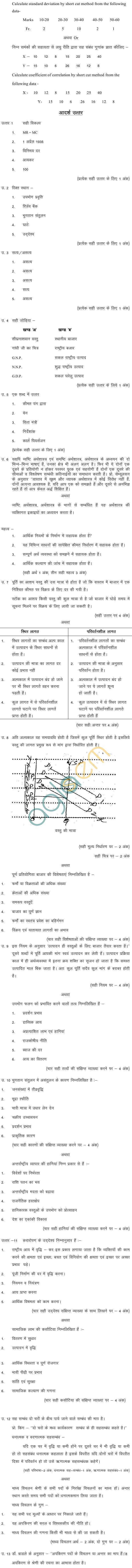 MP BoardClass XII Economics Model Questions & Answers -Set 4