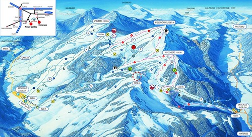 Gaissau Hintersee - mapa sjezdovek