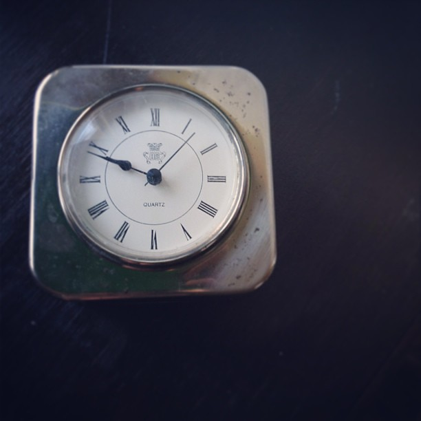 Recently acquired: vintage silver plated clock. Arriving soon. #vintagesoupshop