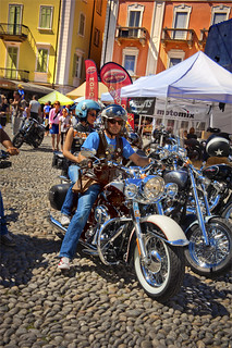 Harley Davidson Parade in Locarno. August 25, 2013.No.8532.