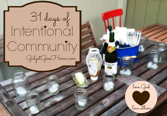 31 days of Intentional Community