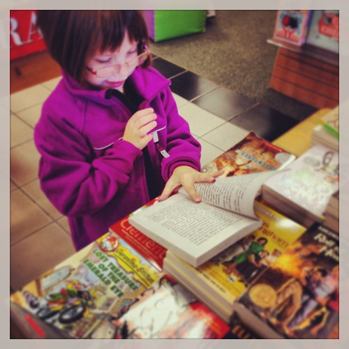 what my amazing daughter wanted to do on a no-school day:  go to the bookstore!