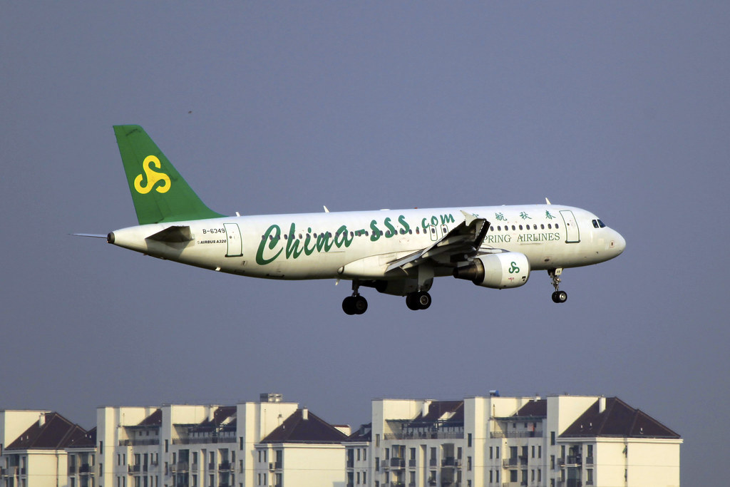 B-6349 | Spring Airlines | Airbus A320-214 | SHA