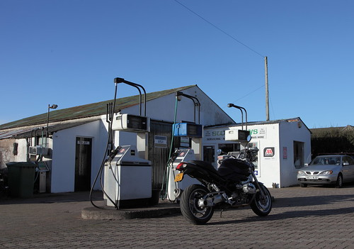 Rural gas station Braco by keithnairn