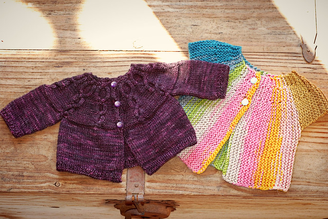 knits for baby girl - korrigan and retro baby smock