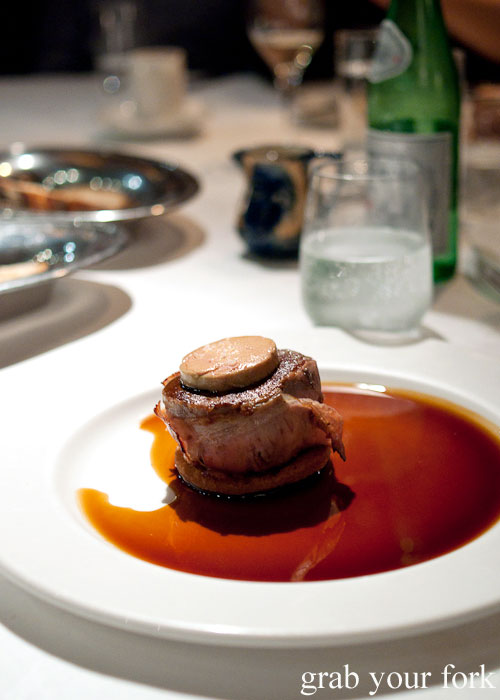 Tournedo rossini aged Black Angus beef with foie gras and Madeira sauce at Buon Ricordo, Paddington