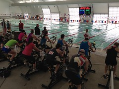 Bike/Swim in Indoor 50 Meter Pool