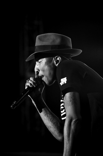 Pharrell Williams on Stage from Flickr via Wylio
