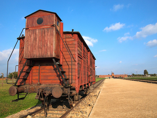 Train car at Auschwitz II-Birkenau