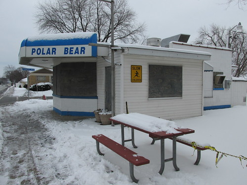 The Polar Bear Drive In during the off season.  North Riverside Illinois.  December 2013. by Eddie from Chicago