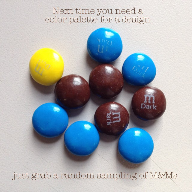 Next time you need a color palette for a design, just grab a random sampling of M&Ms