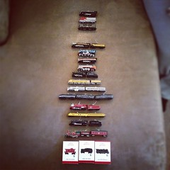 #hallmark #christmas #trains I have one for every year from 1996 to 2013. Missing 1999 and 2000 though.