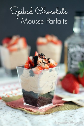 No-Bake Spiked Chocolate Mousse Parfaits | beyondfrosting.com | #nobake #valentines day