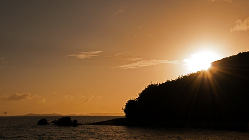 travel sunset sea sun water silhouette photoshop landscape island mar nikon dusk highcontrast caribbean nikkor contrejour jostvandyke bvi britishvirginislands westindies jvd intothelight greatharbour d300s 18105mmf3556 nikon18105mmf3556