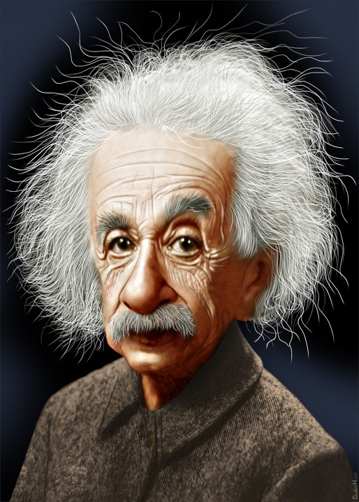 Albert einstein caricature albert einstein was a - Albert einstein hd images ...