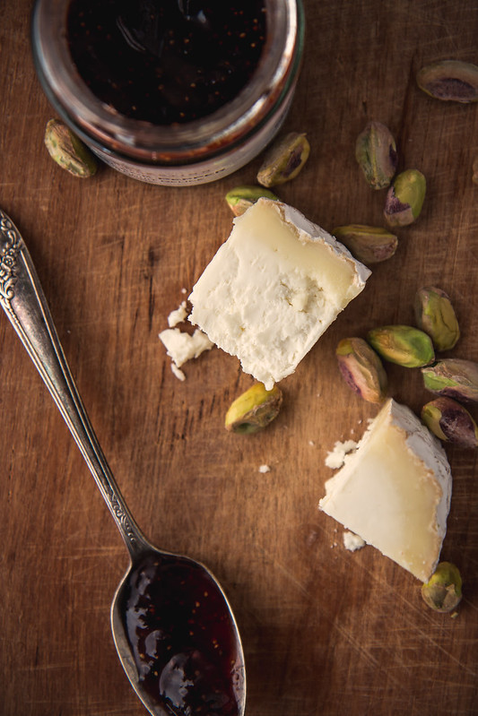 Fig Jam, Goat Cheese, & Pistachios | Will Cook For Friends