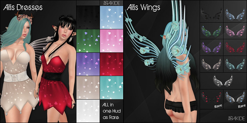 Ailis Dresses and Wings for Luck of The Irish Gacha Fair