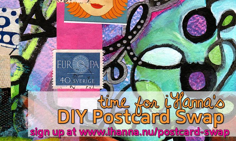 iHanna's DIY postcard swap 2014