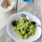 Pasta with creamy broccoli sauce