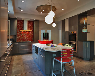 Jack Rosen Custom Kitchens - Colorful Contemporary Kitchen