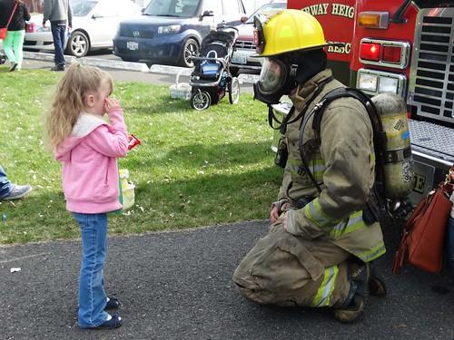 AH easter egg hunt firefighter
