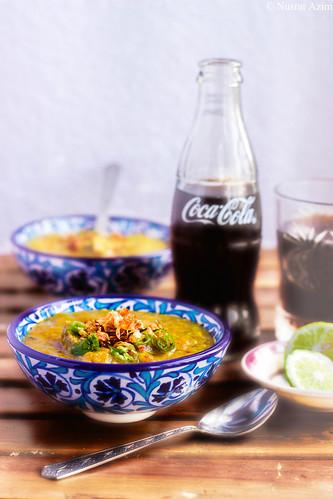 Haleem ... meat-lentil stew. Recipe: Recipe: http://myselfnusrat.wordpress.com/2014/05/02/purity-does-exist/