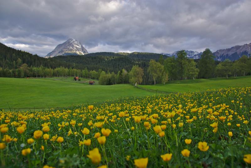 Paisaje típico del Tirol austriaco
