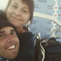 Back to the cold with all our luggage and great Fuerteventura memories! #wheelchairselfie
