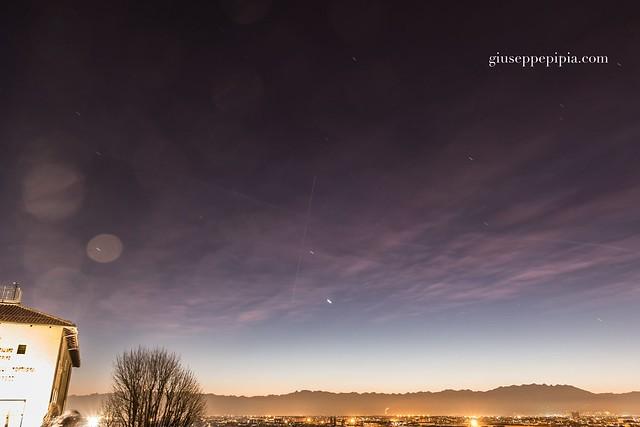 ISS passage over Torino, Italy.
