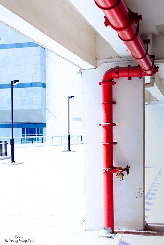 Colourful Red Pipe Art