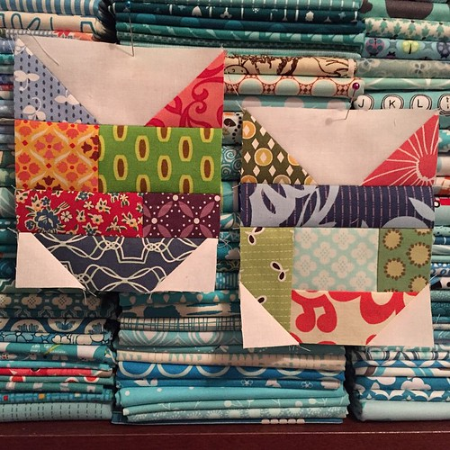 31:365 Testing out some scrappy cat blocks. #catventquiltalong
