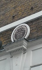 Photo of George Grote brown plaque