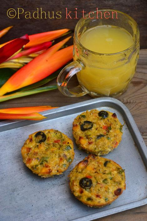 Quinoa Breakfast muffins-Quinoa Egg and Vegetable Muffins