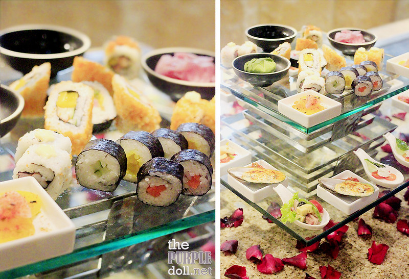 Sushi and other appetizers from Mercado