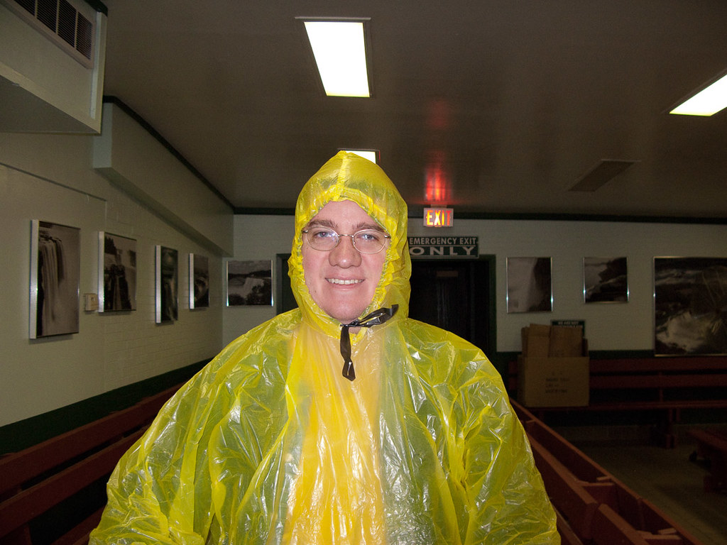 Ken in his poncho at Cave of the Winds