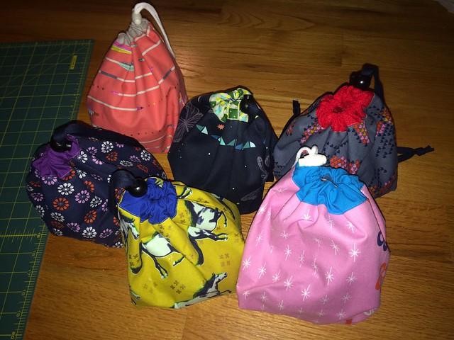knitting bags, set 3