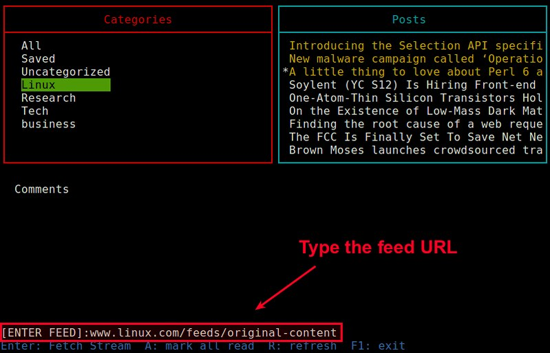 How to access Feedly RSS feed from the command line on Linux
