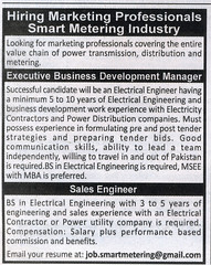 Sales Engineer Manager Jobs In Smart Metering Industry - http://thejobs.pk/wp-content/uploads/2015/02/electrical-engineering-jobs.gif - http://thejobs.pk/engineering-and-technical/sales-engineer-manager-jobs-in-smart-metering-industry.html