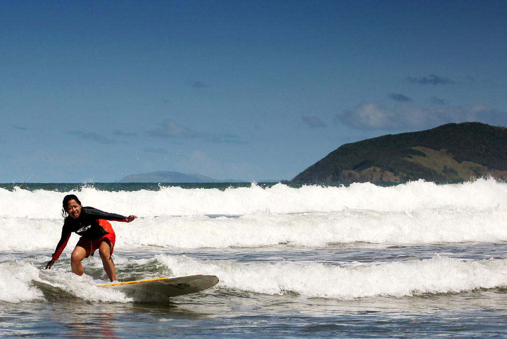 surfing in bagasbas beach daet