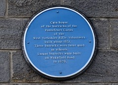 Photo of West Yorkshire Rifle Volunteers blue plaque