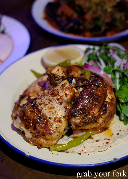 Harissa roasted chicken at Pazar Food Collective, Canterbury