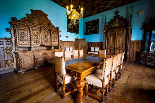 dining room table castle dvorac trakošćan travel furniture krapina 1334 13th century vacation europe architecture croatia 13thcentury castletrakošćan diningroom diningroomtable dvoractrakošćan trakošćancastle varaždinskažupanija hr