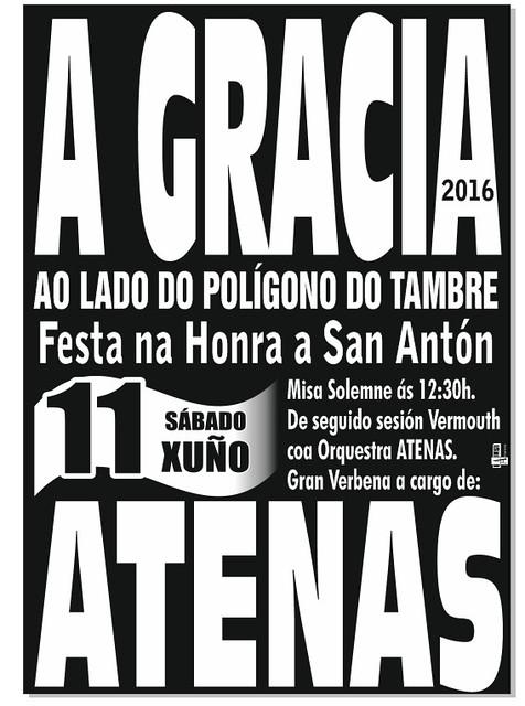 Santiago de Compostela 2016 - Festas de Santo Antón na Gracia - cartel