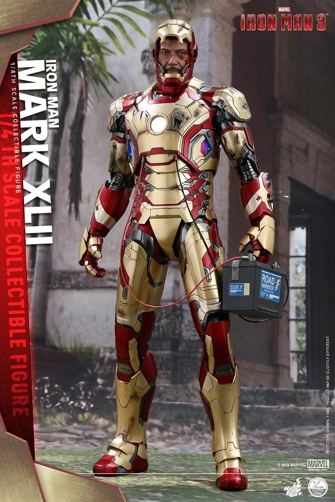 Hot Toys – QS007 – 鋼鐵人3【馬克42】1/4 比例 Mark XLII