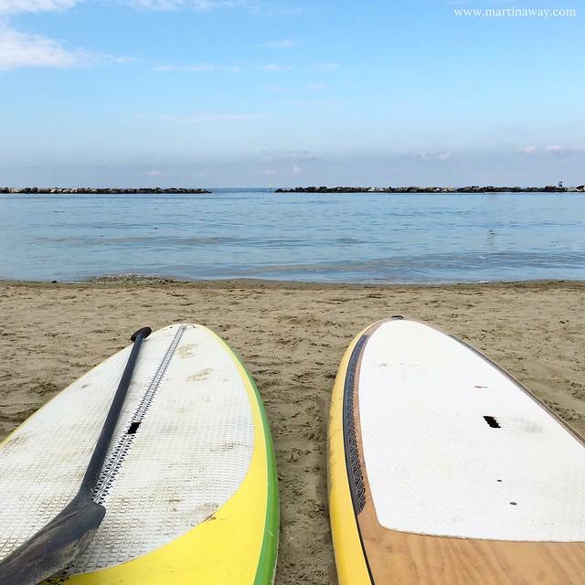 SUP in spiaggia a Bellaria Igea Marina