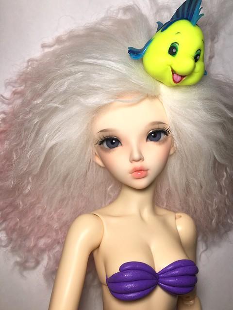 Flounder mags on a minifee, wip of Ariel's bra