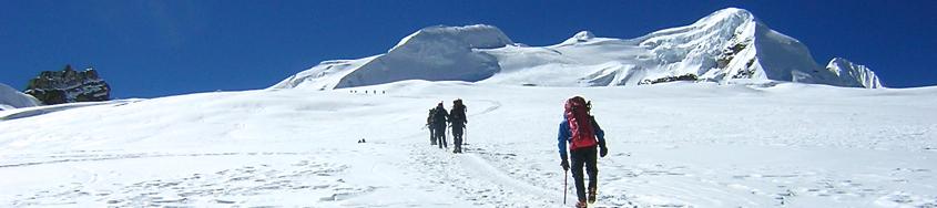 Aufstieg zum Mera Peak, 6461 m, im Khumbu-/Everest-Gebiet. Foto: Archiv Härter.