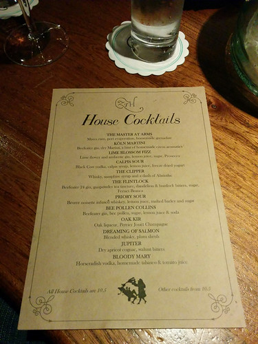 cocktail menu @ The Zetter Townhouse Clerkenwell