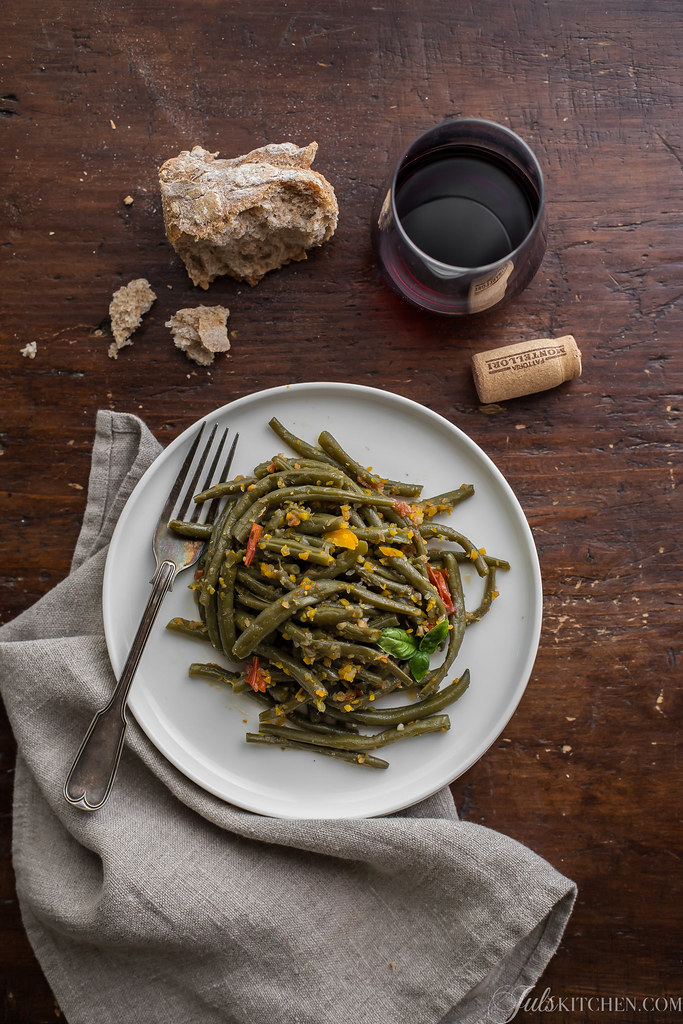 Stewed French beans